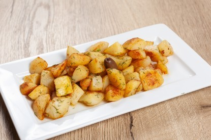 Potatoes sauteed with garlic and dill