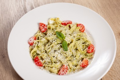 Tagliatelle with Pesto and Parmesan